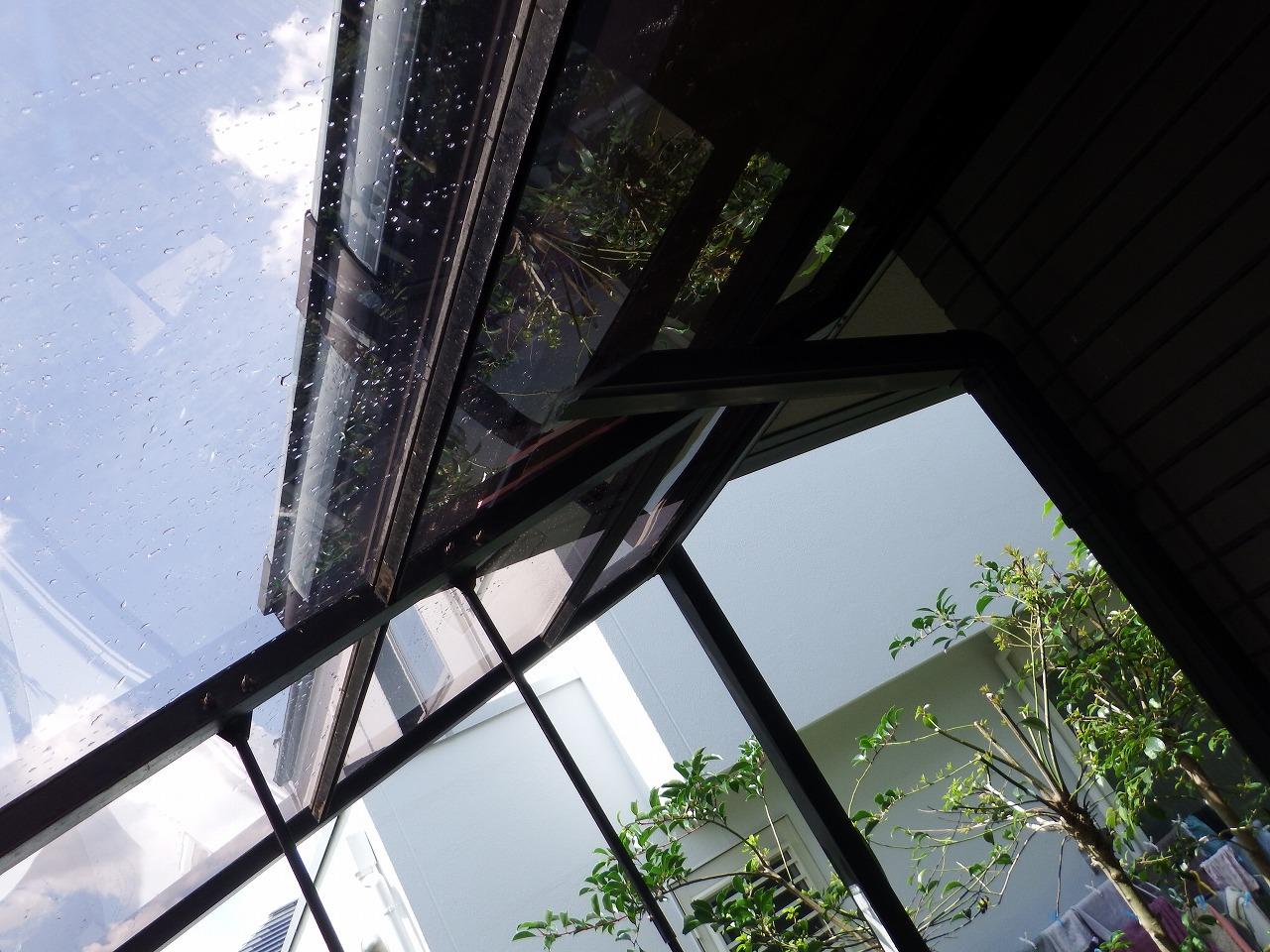 生駒市の新しいテラス屋根完成