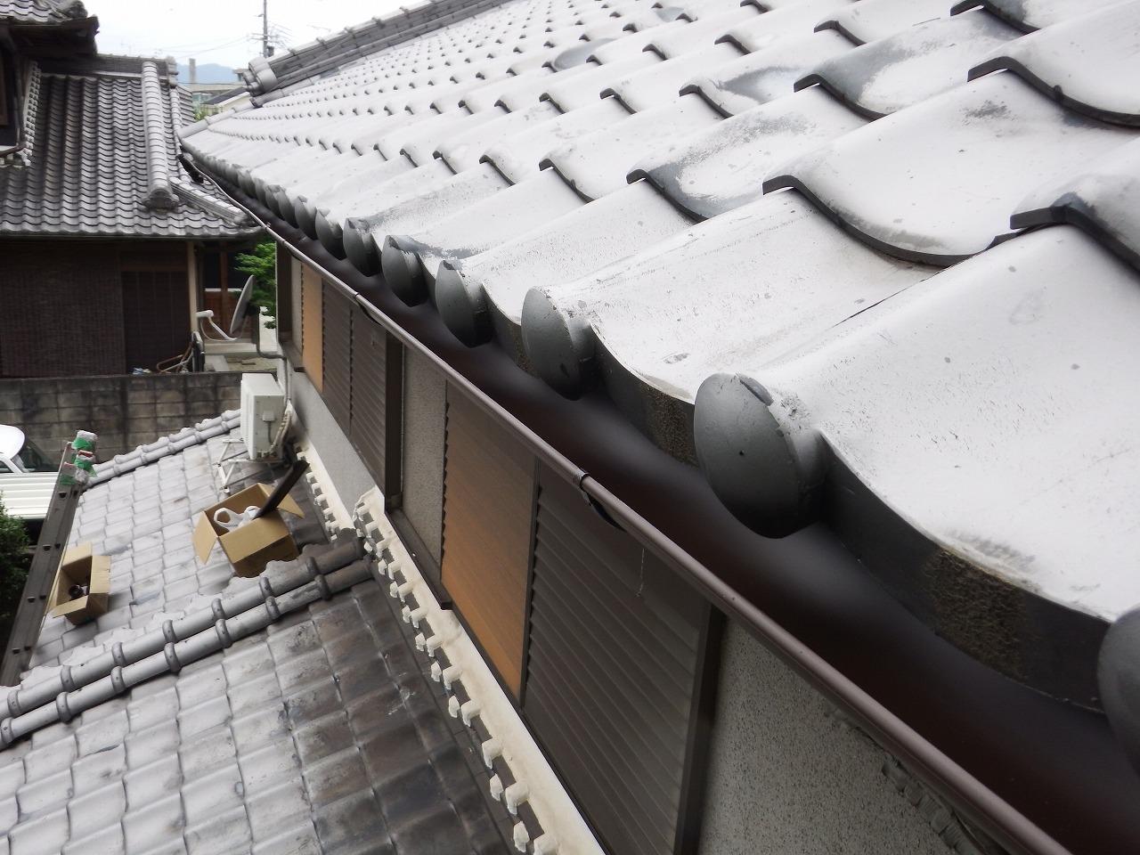 橿原市の新しい雨樋設置