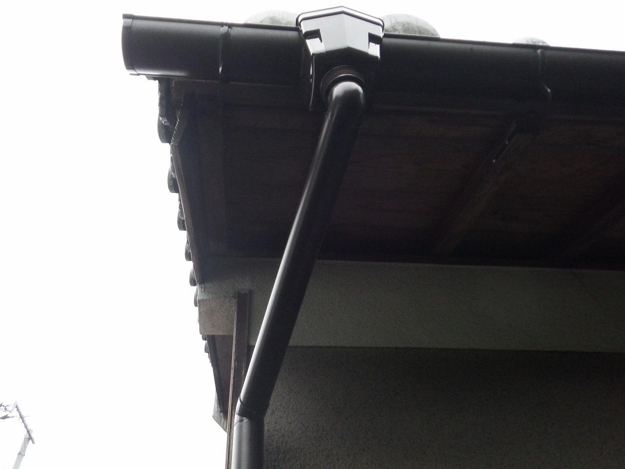 橿原市の雨樋交換完成