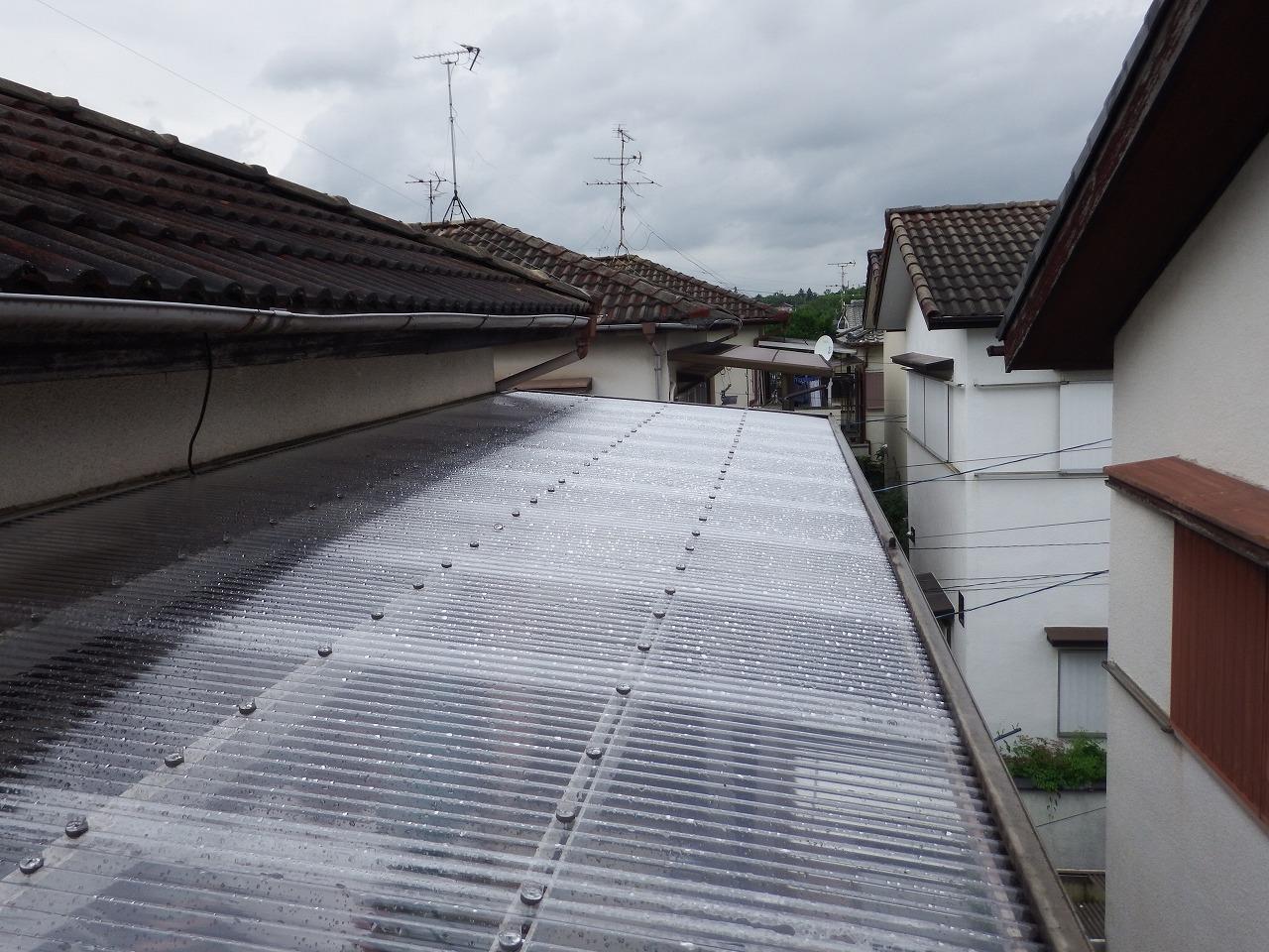 奈良市のベランダ屋根完成