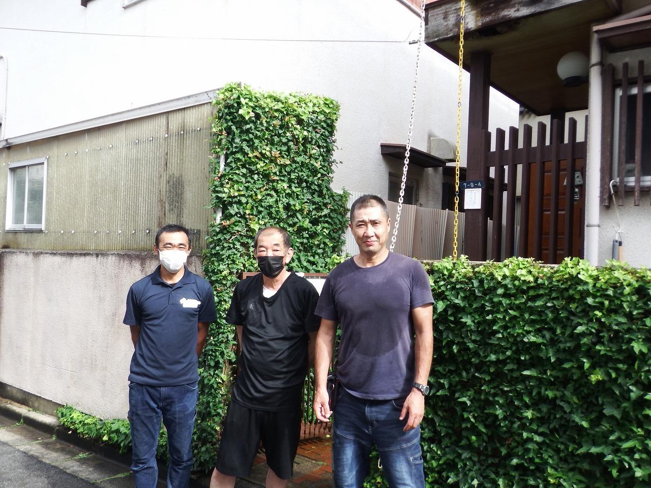 奈良市で強風で穴が空いたベランダ屋根を張り替えお喜びのお客様の声