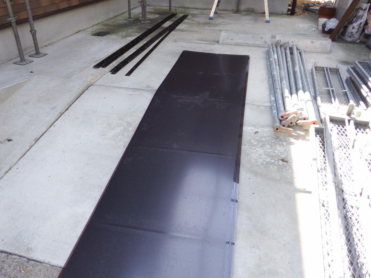 生駒市の塗装工事、ポリカ平板