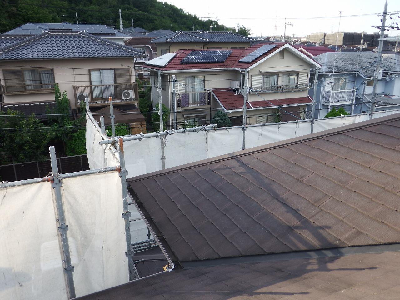 生駒市の塗装工事、防音シート設置