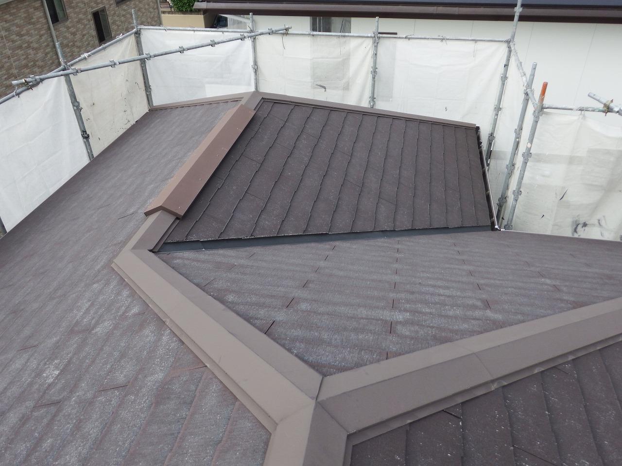 生駒市のコロニアルNEOの屋根塗装前