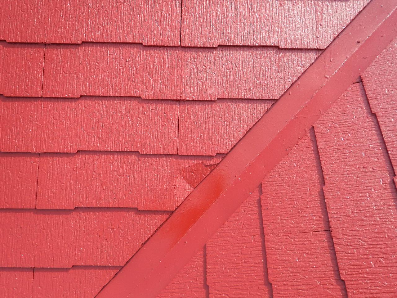 生駒市のスレート屋根塗装、破損屋根材発見
