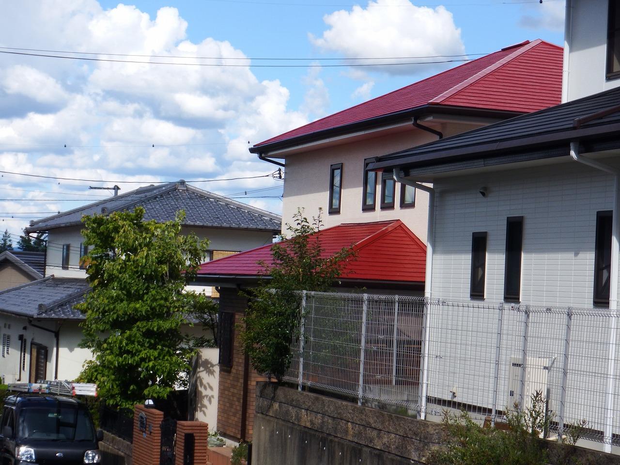 生駒市の塗装工事現場、完工