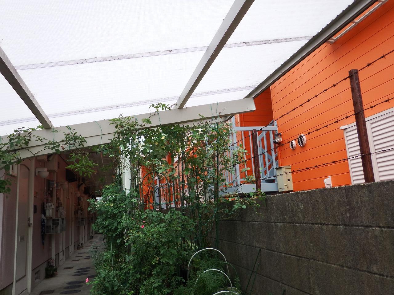 奈良市でカーポートの波板屋根の施工前