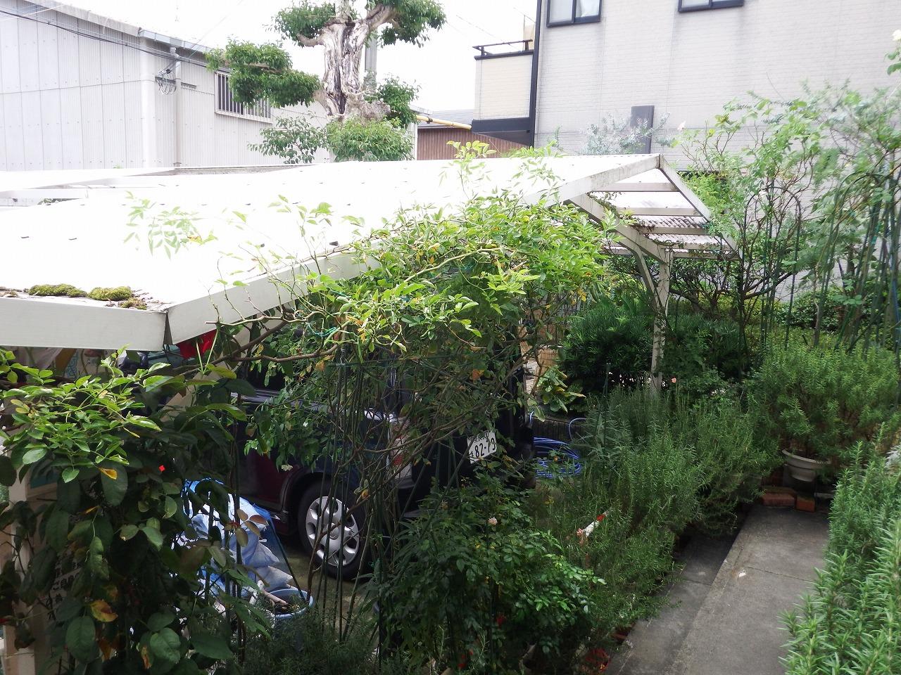 奈良市でカーポートの波板屋根の飛散、現場調査