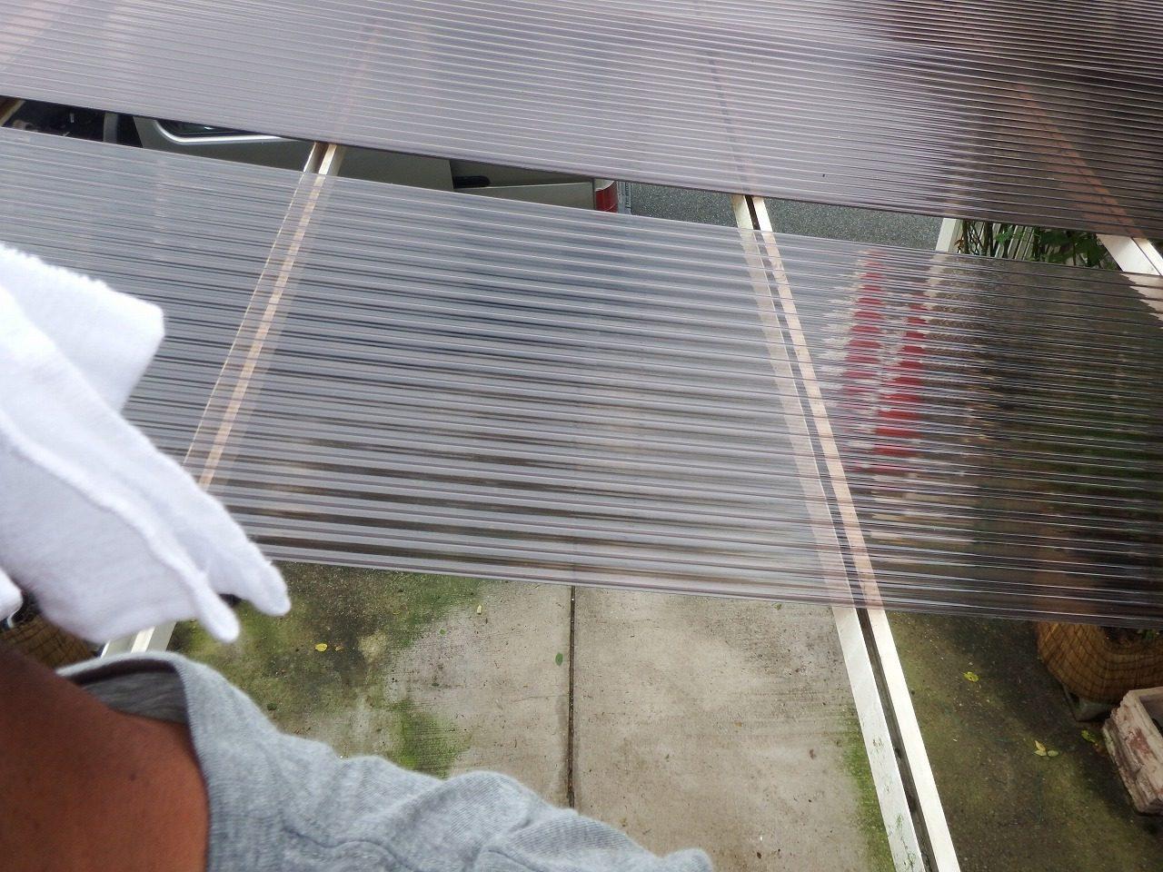 奈良市でカーポートの波板屋根の設置