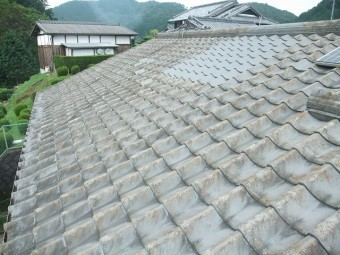 工事前屋根の全景