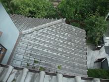 瓦を剥がす前の屋根