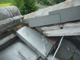 屋根の切返しの部分