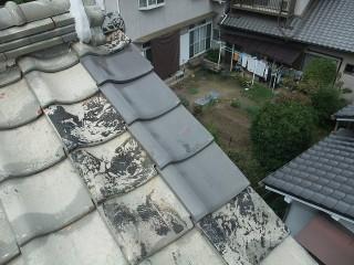 瓦の差し替え屋根修繕工事完了