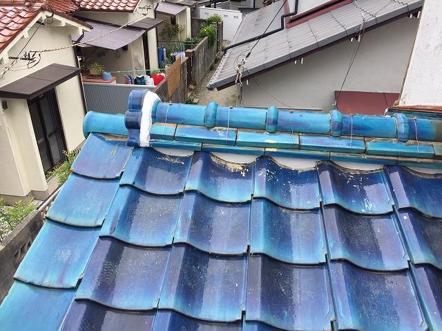 下屋根棟の取り直し
