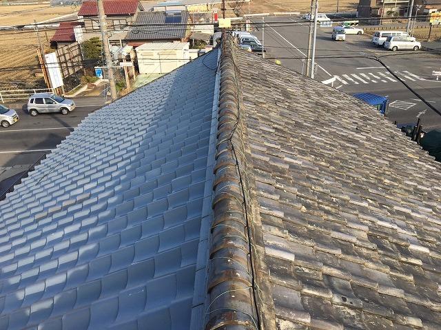 香芝市の和瓦屋根の施工前