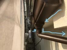 雨樋の取り換え工事と水の流れ