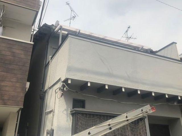 桜井市のベランダ手摺りの笠木補修完成