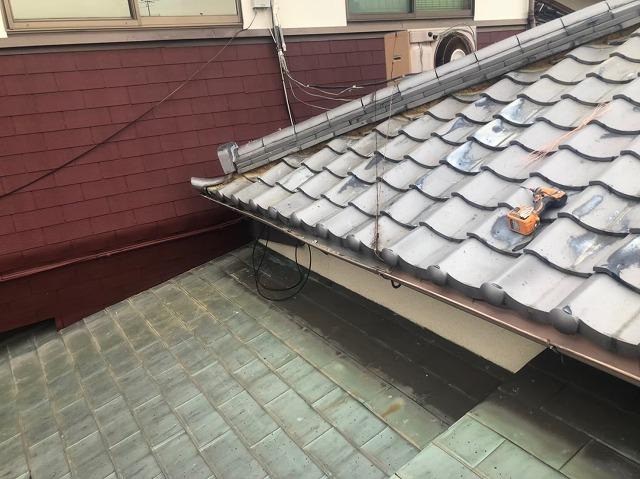 奈良市の雨樋工事 施工前
