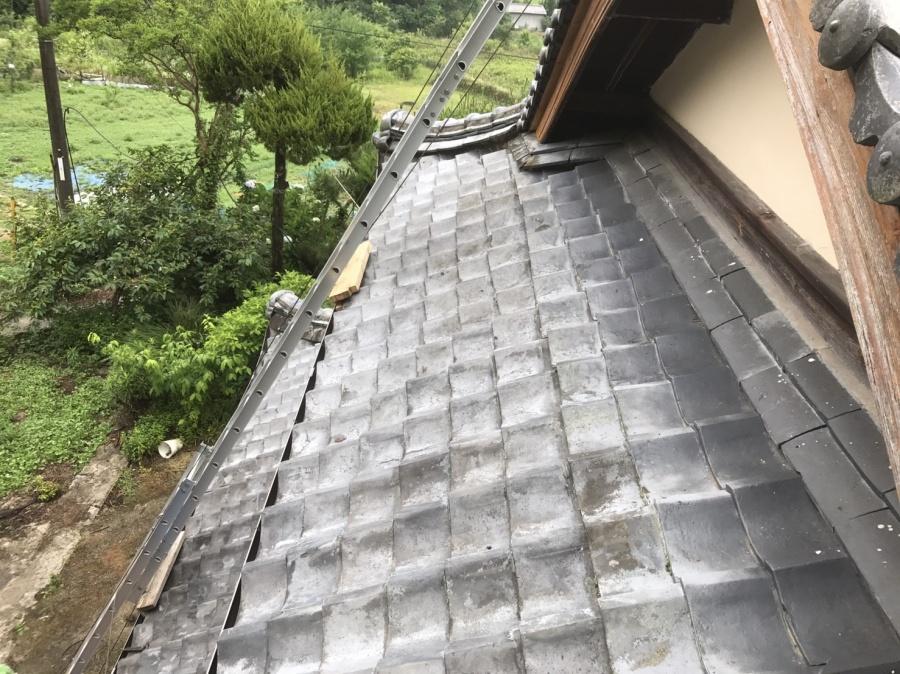 工事前の大屋根