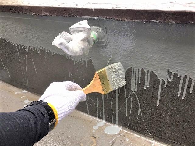 奈良市のベランダの防水工事でアクリル防水