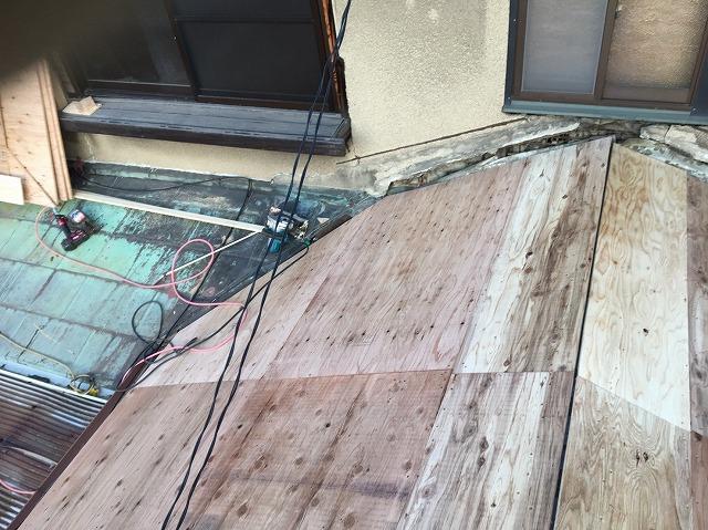 野地板設置屋根