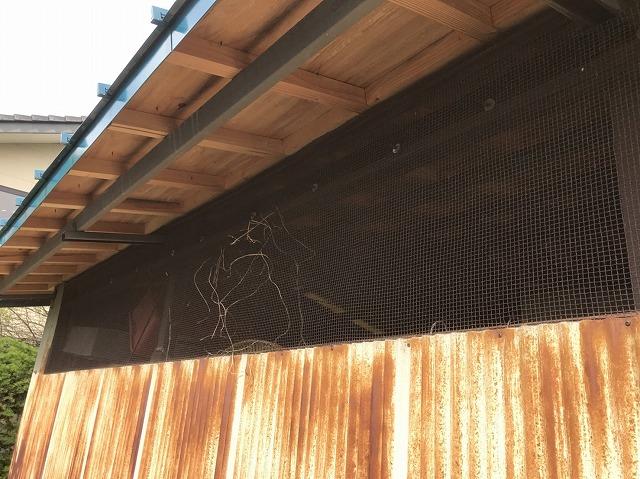 大和郡山市の立平葺き屋根の軒天