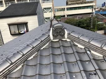 天理市 雨漏りの瓦屋根 完成