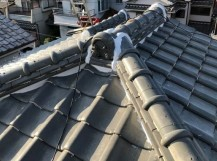 橿原市の瓦屋根、漆喰工事完成
