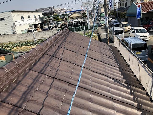 奈良市で築30年経過したセキスイかわらUの屋根を現場確認します
