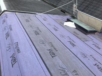 天窓 防水紙貼り