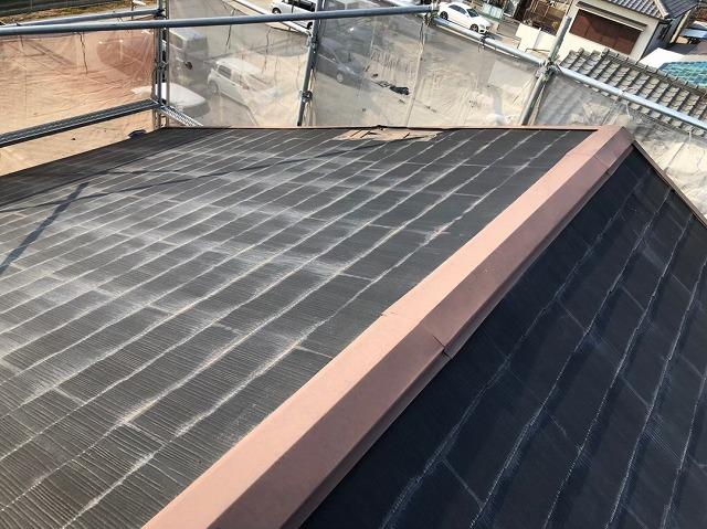 奈良市で劣化して剥がれたカラーベスト屋根の無料点検を行いました