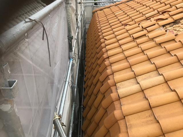 斑鳩町で急勾配な屋根