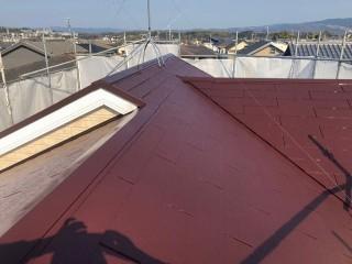 塗装完了後のスレート屋根