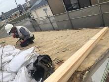 土葺きの撤去と砂袋