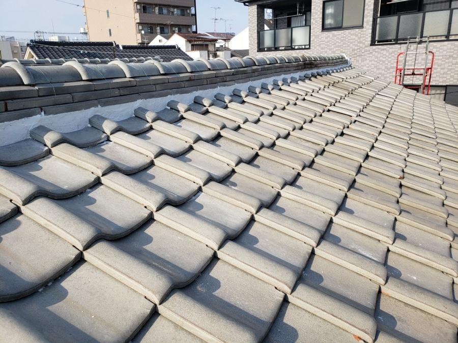 大阪市内の漆喰補修工事施工後