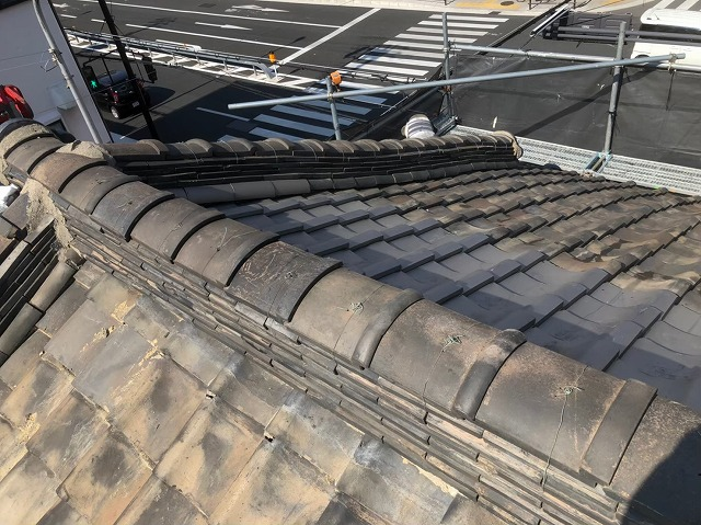 奈良市の瓦屋根の雨漏り点検