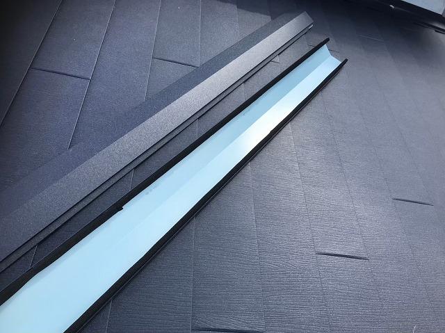 奈良市の屋根葺き替え工事で使用する棟板金