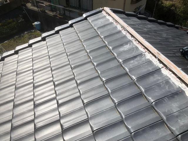 香芝市の新しい屋根下地に瓦設置