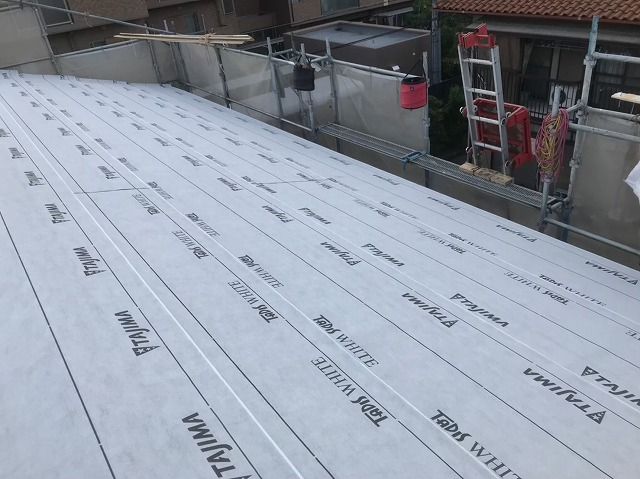 防止紙設置で雨水シャットアウト