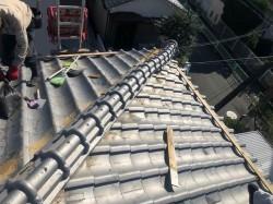 奈良市 棟瓦取り直し工事 施工前