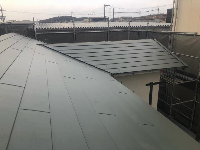 スーパーガルテクトを使用した大屋根