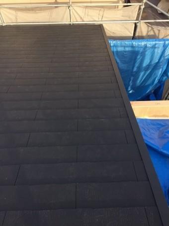 大和郡山市の新築分譲住宅の屋根カラーベストを設置
