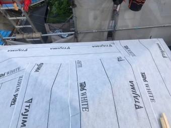 高品質な防水紙の設置