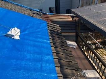 奈良市の雨漏り調査の応急処置