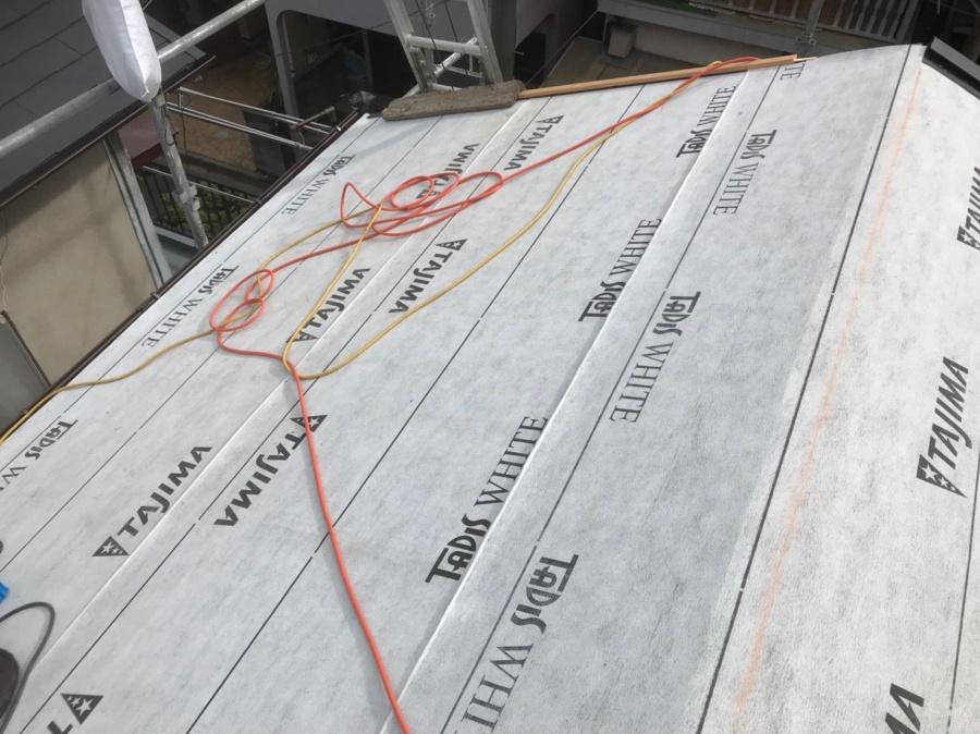 ルーフィング設置の屋根