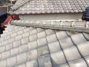 奈良市の瓦屋根の棟瓦点検