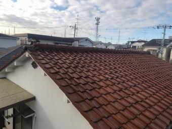 切妻瓦屋根の補修工事