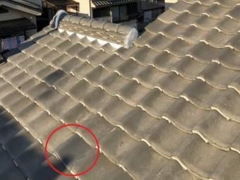 橿原市の大屋根の瓦差し替え完了