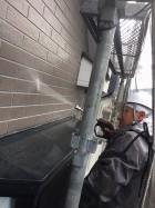 外壁洗浄中の様子