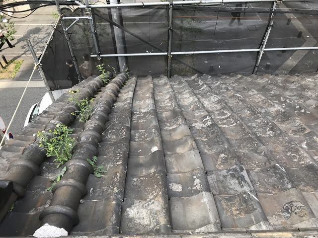 奈良市の和瓦屋根現調